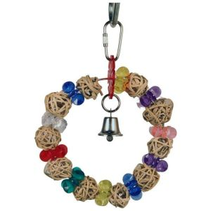 A&E Cage Company - Happy Beaks Munch Ball Swing - Multicolored - Extra Small