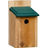 Welliver Outdoors - Chickadee House Cedar - Natural/Green - 10.5X5.4X6.5X