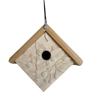 WELLIVER OUTDOORS - WELLIVER OUTDOORS CARVED RASPBERRY WREN HOUSE-NATURAL-