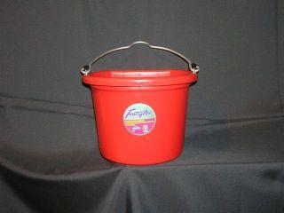 Fortex - Flat Back Bucket - Red - 8 Quart