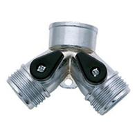 Melnor - Two-Way Hose Connector - Chrome