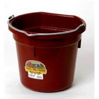 Miller Mfg - Flat Back Plastic Bucket - Burgundy - 20 Quart