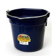 Miller Mfg - Flat Back Plastic Bucket - Navy - 20 Quart