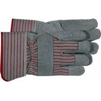 Boss Manufacturing - Split Leather Palm with Cuff Glove - Gray - Large