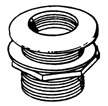 Lifegard Aquatics - Threaded Bulkhead Fitting - 1 Inch