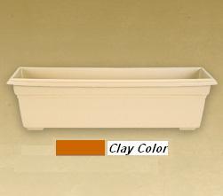 Novelty Mfg - Countryside Flower Box - Clay - 36 Inch