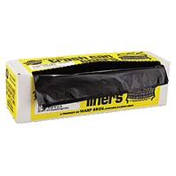 Warp Brothers - Industrial Strength Trash Can Liners - Black - 33 Gallon