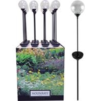 Woods Industries - Moonrays Crackle Globe Stake Light Floor Display - Assorted - 16 PC
