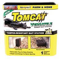 Motomco - Tomcat Versatile Rodent Bait Station - Black - 9X9X4 Inch