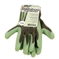 LFS Glove - Bamboo Gardener Garden Gloves - Green - Large