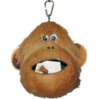 A&E Cage Company - Happy Beaks Coco Monkey Bird Toy - Assorted - 6 x 6 x 6 Inch