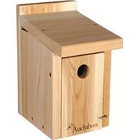 Audubon/Woodlink - Cedar Wood Wren/Chickadee House - Tan - 6.75 x 6.25 x 11 Inch
