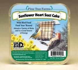 Pine Tree Farms - Suet Cake - Sunflower Heart 12 oz