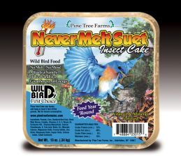 Pine Tree Farms -  Never Melt Suet Cake  - Insect - 13 oz