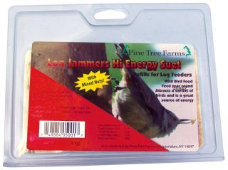 Pine Tree Farms -  Log Jammers Suet Plugs - Hi-Energy 9.4Ounce/3 Pack