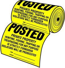 Hy-Ko - 100-Piece Tyvek Sign Roll - Yellow