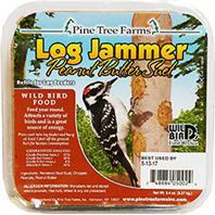 Pine Tree Farms -  Log Jammer Suet Plugs  - Peanut Butter 9.4Ounce/3 Pack
