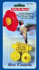 Perky Pet -  Bee Guards Replacements  - Yellow 4 Pack