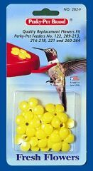 Perky Pet -  Small Flowers Replacement For Hummingbird Feeders  - Yellow  9 Pack