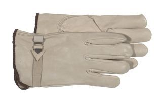 Boss Manufacturing - Unlined Leather Driver Glove - Gray - Large