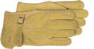 Boss Manufacturing - Premium Leather With Black & Strap Glove - Tan - Medium