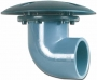 United Aquatics - Bottom Drain with 90-Degree Coupling - 3 Inch
