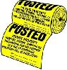 Hy-Ko - 100-Piece Tyvek Sign Roll - Yellow