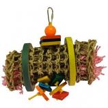 A&E Cage Company - Happy Beaks Vine Mat Rollup - Multicolored - Small