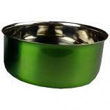 A&E Cage Company - Stainless Steel Coop Cup With Bolt Hanger - Green - 20 oz