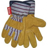 Kinco International - Grain Pigskin Palm Glove - Tan/Blue/Red - Youth