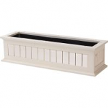 The Master Gardner Co - Window Box Nantucket - White - 30 Inch