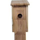 WELLIVER OUTDOORS - WELLIVER OUTDOORS CARVED LIGHTHOUSE BLUEBIRD HOUSE-NATURAL-