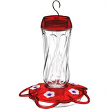 Classic Brands - Orion Glass Hummingbird Feeder - Red - 16 oz