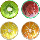 Panacea Products - Fruit Slice Asst Glass Bird Baths W/Stnd - Assorted - 16 Inch