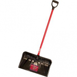 Bully Tool - Fiberglass D-Grip Handle Poly Combo Snow Shovel - 22 Inch
