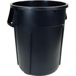 Hamburg/Nexstep Comm Prod - Maxi-Rough Trash Container - Black - 32 Gallon