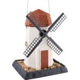North States Industries - Village Collection Windmill Birdfeeder - White/Brown - 8 Pound Cap