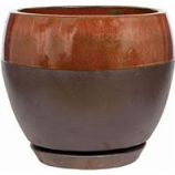 Southern Patio - Clayworks Kendell Egg Planter - Copper - 6 In
