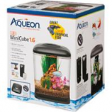 Aqueon Products - Glass - Led Mini Cube Aquarium Kit - Black - 1.6 Gallon