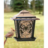 Audubon/Woodlink - Hopper Style Bird Feeder With Buttefly Design - Bronze - 4 Pound Cap