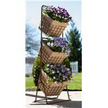 Panacea Products - 3 Tier Harvest Baskets Planter Stand - 16X16X12