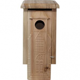 WELLIVER OUTDOORS - WELLIVER OUTDOORS CARVED CHURCH BLUEBIRD HOUSE-NATURAL-