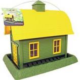 North States Industries - Village Collection Barn Bird Feeder - Green/Yellow - 8 Pound Cap