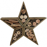 Audubon/Woodlink - Rustic Farmhouse Star Insect House - Natural
