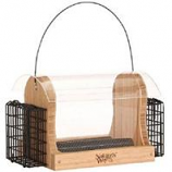 Natures Way - Hopper Feeder With Suet Cages - Bamboo - 4 Quart Cap