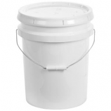 Miller - Plastic Bucket With Lid - White - 5 Gallon