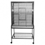 A&E Cage Company - Flight Bird Cage With Stand - Blue - 32X21X63 Inch