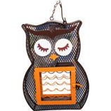 Heath - Owl Dual Suet & Seed Bird Feeder - Brown/Orange -