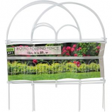 Garden Zone Llc - Round Folding Fence - White - 18X8