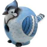Songbird Essentials - Gordo Blue Jay Birdhouse - 7.5X5.5X8.5